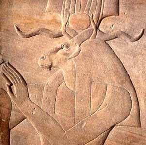 The Egyptian goat god