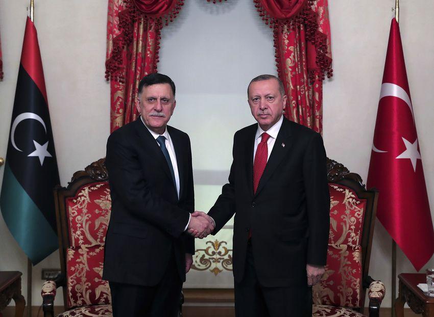 Fayez al-Sarraj and Erdogan