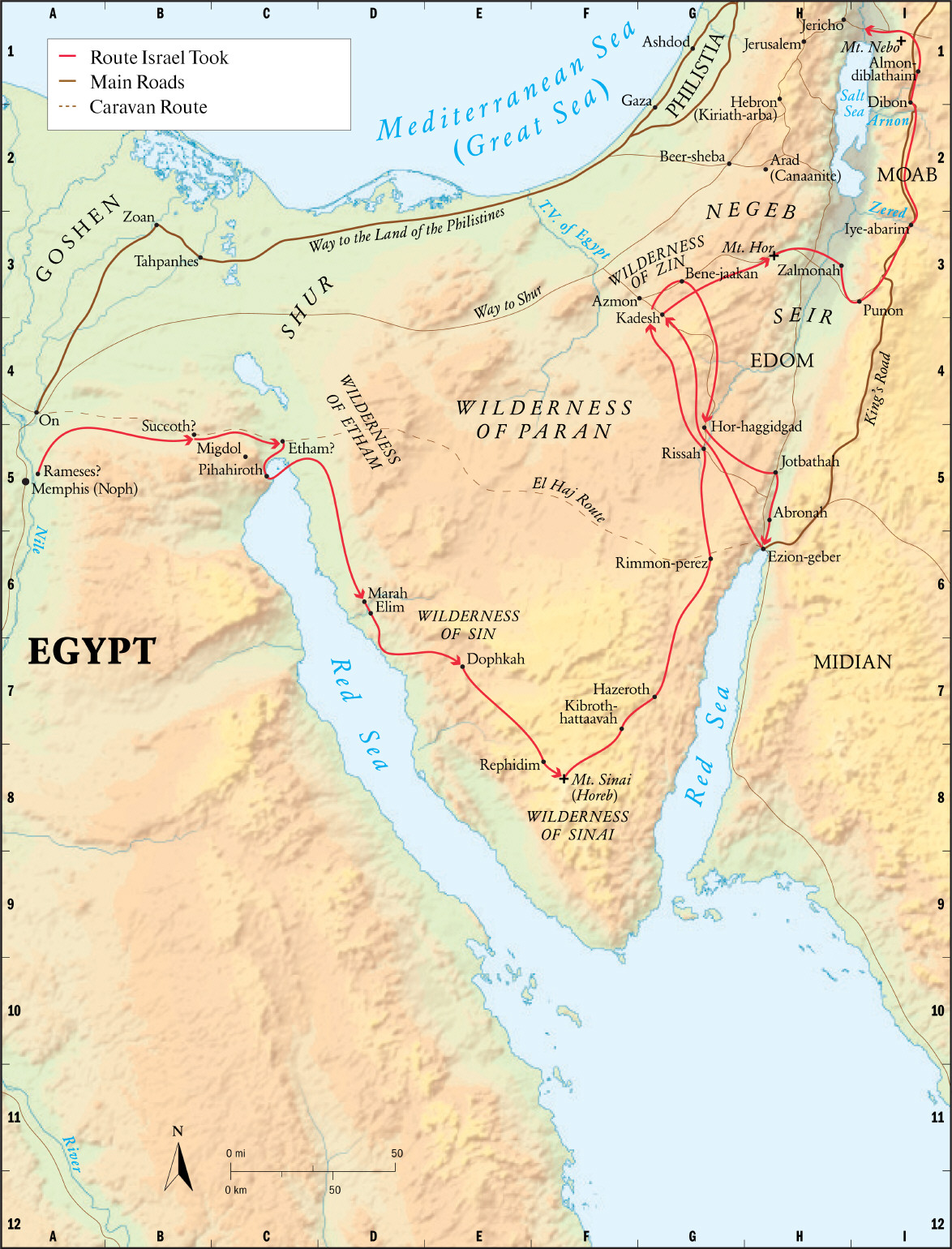 The Incorrect route of the Exodus from Egypt