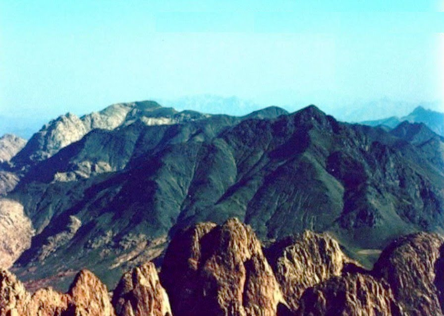 Mount Sinai in Arabia where Torah was given on Shavuot