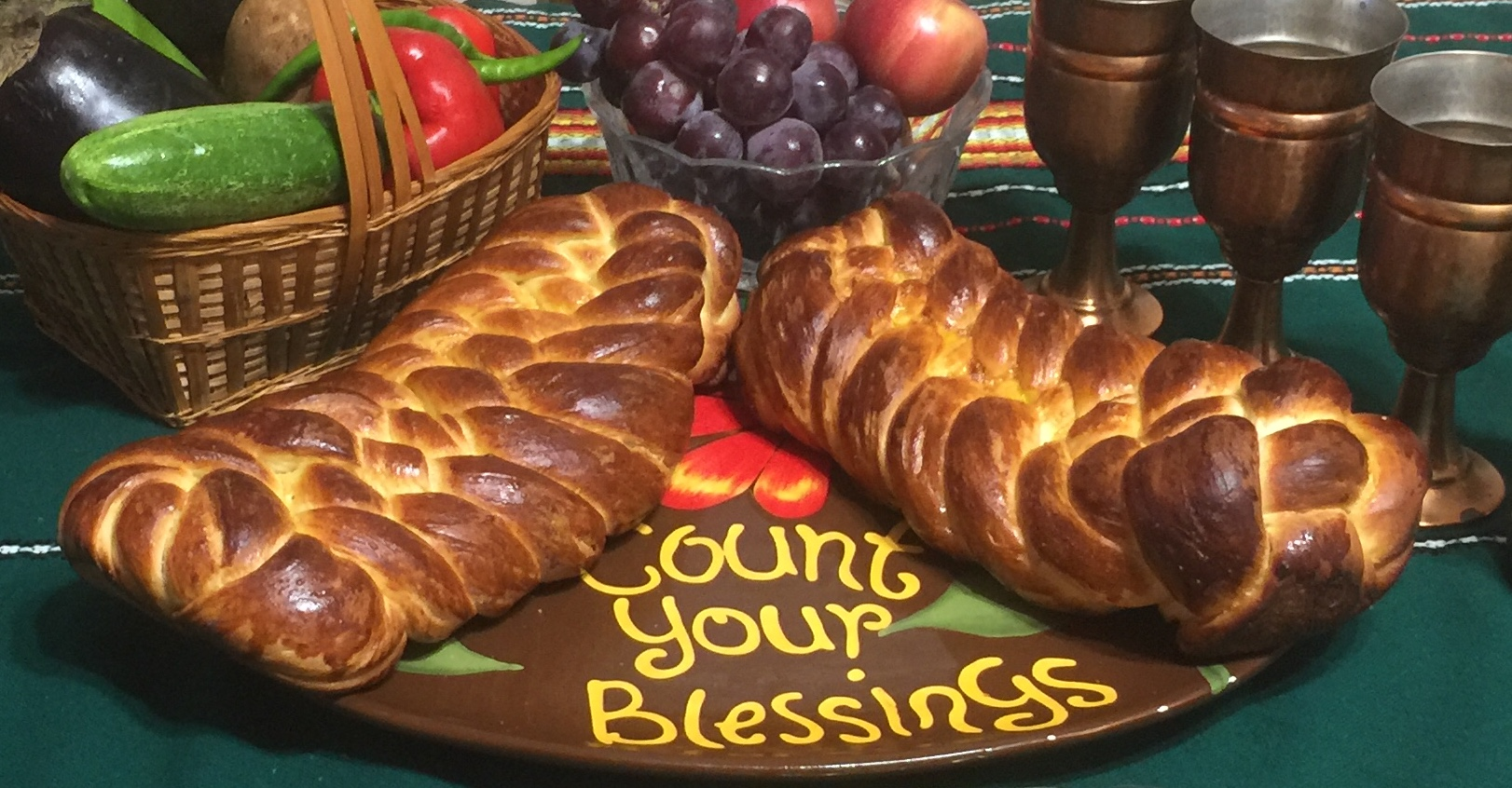 Two loaves of leavened bread for Chag Shavuot