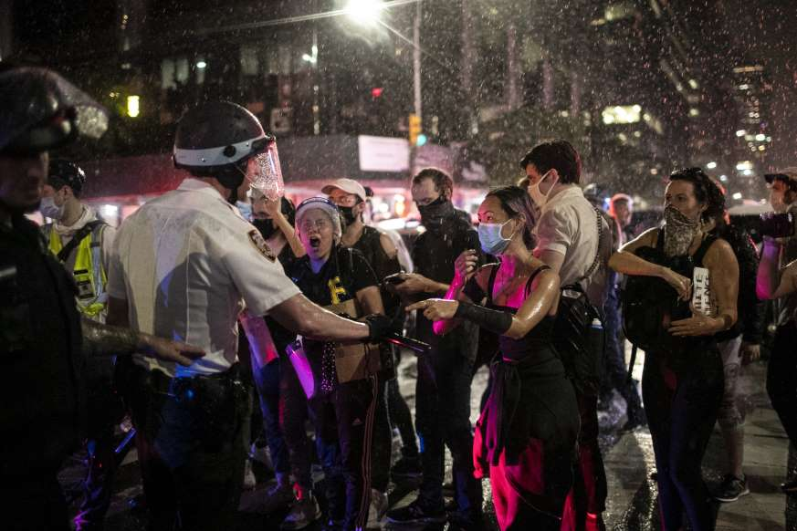 Anti-racism protests soon turned into anti-Trump