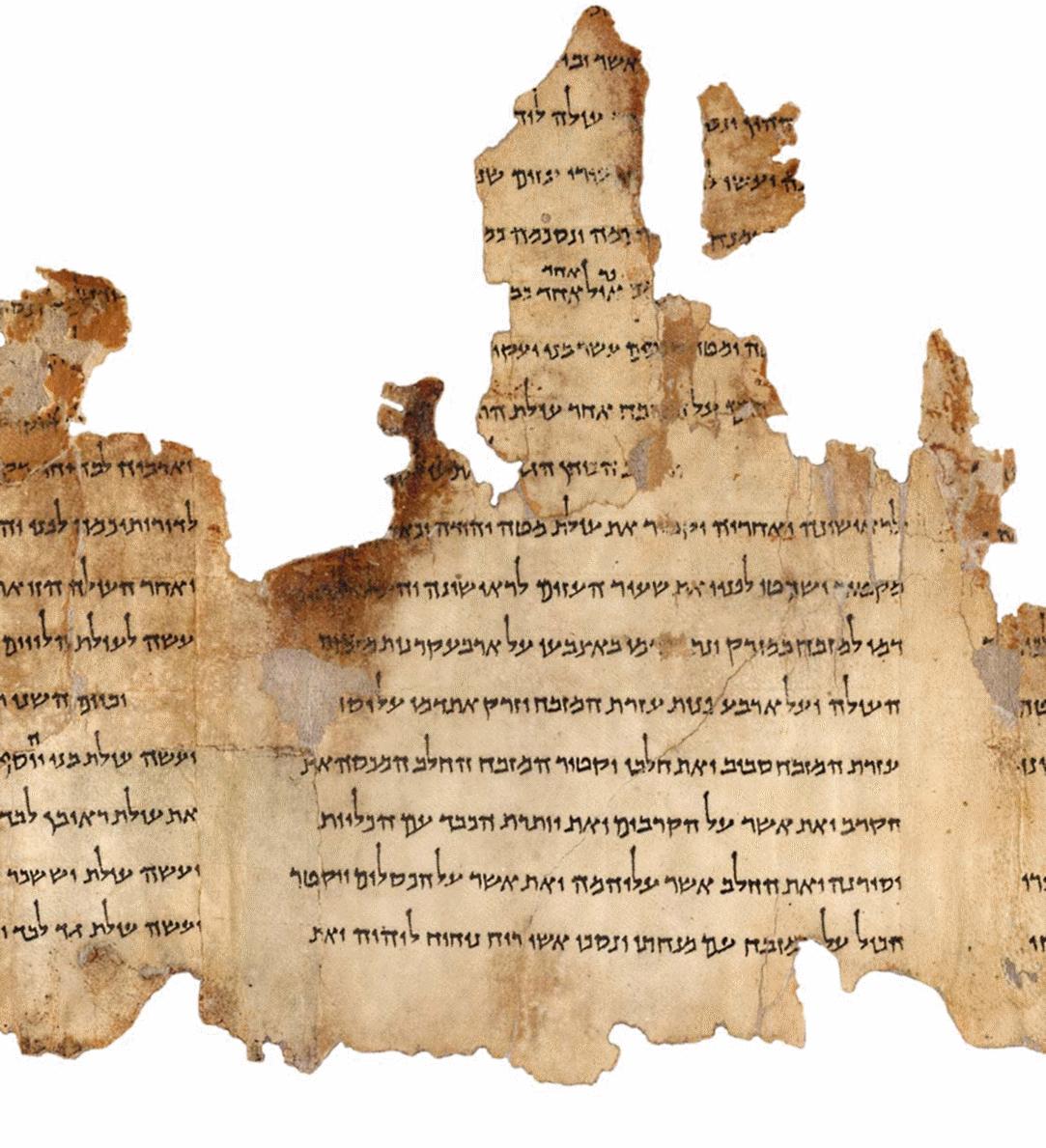 Ivrit transcript of Torah scroll