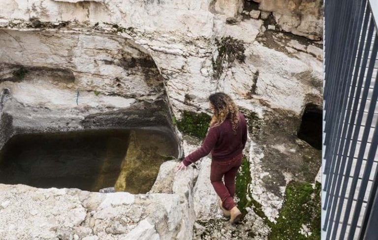 The mikveh at the Davidson Center Archaeological Park (Assaf Peretz, Israel Antiquities Authority)
