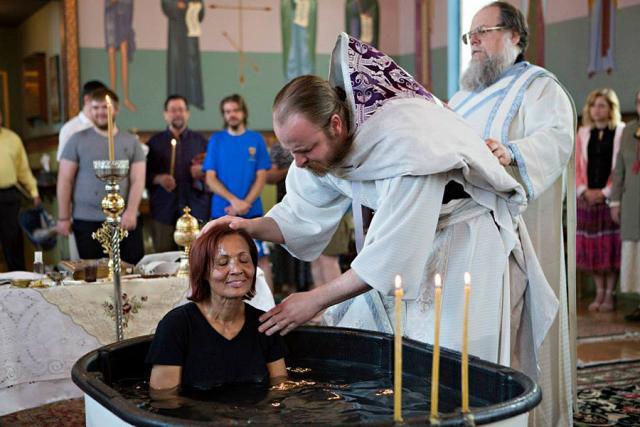 Water baptism in Antiochian Orthodox Church of North America