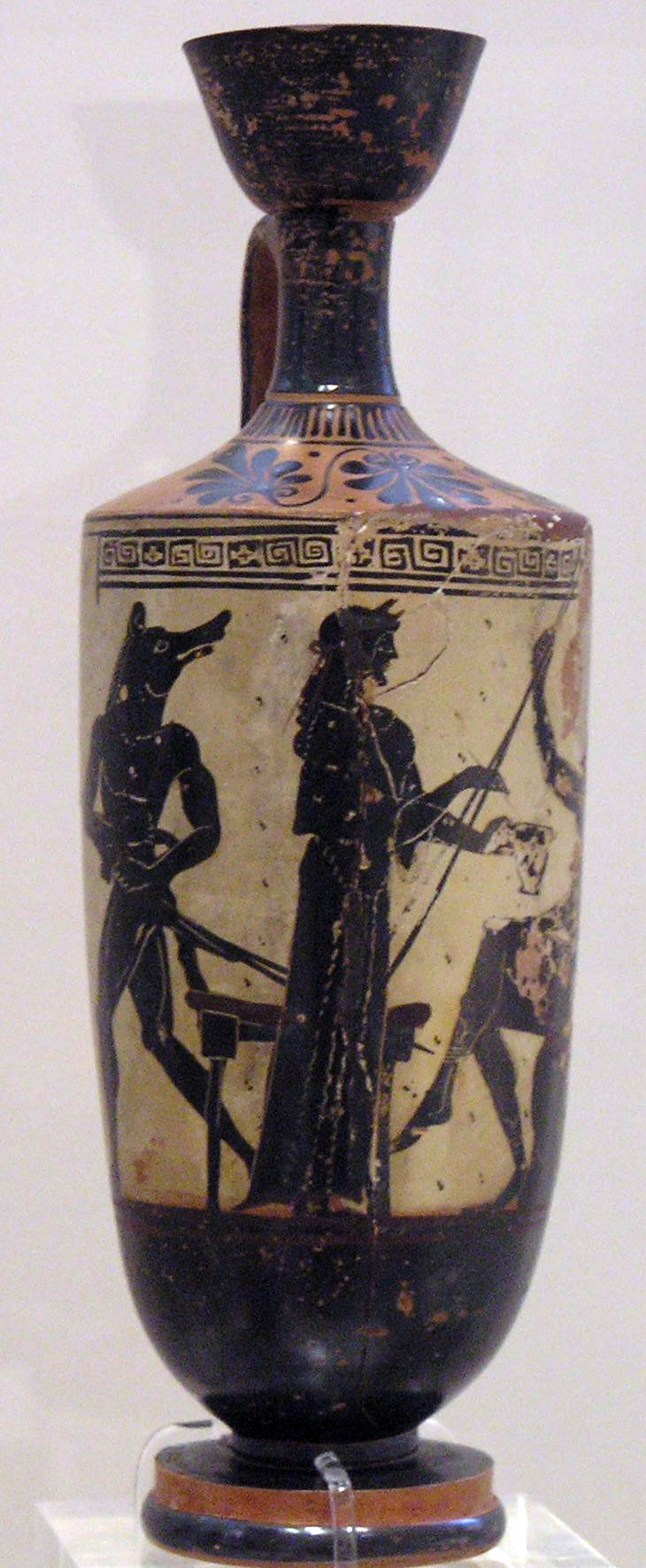 The Greek goddess Circe on a 490–480 BC oil jar, Athens-National Archaeological Museum